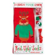 Women's Design Your Own Real Ugly Christmas Socks Kit