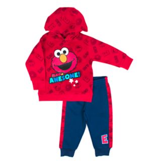 Baby Boy Sesame Street Elmo Graphic Pullover Hoodie & Jogger Pants Set