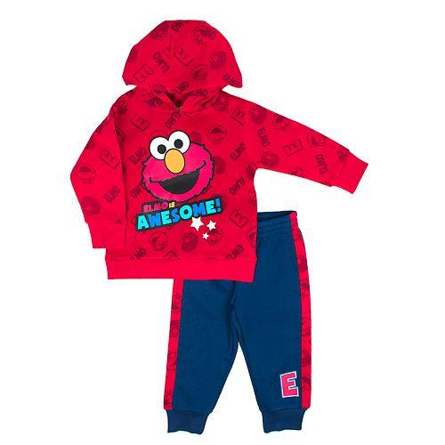 Baby Boy Sesame Street Elmo Graphic Pullover Hoodie & Jogger Pants Set