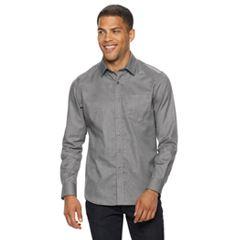 Men's Apt. 9® Textured No-Iron Woven Button-Down Shirt
