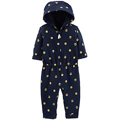 Baby Girl Carter's Hooded Printed French Terry Coverall