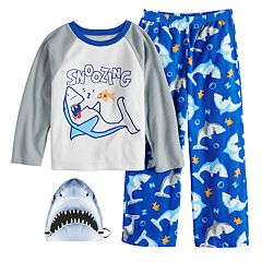 Boys 4-10 2-Piece Fleece Pajama & Mask Sett