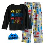 Boys 6-12 Up-Late  Gamer 2-Piece Fleece Pajama & Mask Set