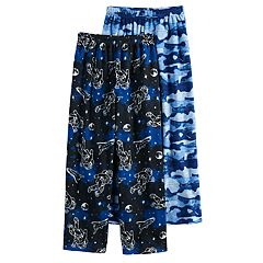 Boys 6-16 Cuddl Duds Fleece Space 2-Pack Lounge Pants