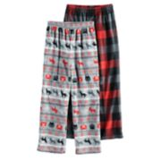 Boys 6-16 Cuddl Duds Fleece Buffalo Check 2-Pack Lounge Pants