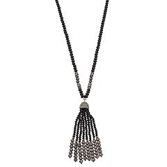 Napier Bead Tassel Y Necklace