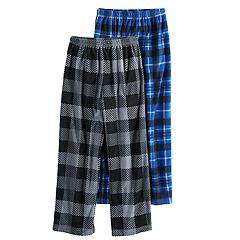 Boys 6-16 Cuddl Duds Fleece 2-Pack Lounge Pants