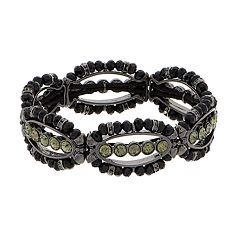 Napier Bead Link Stretch Bracelet