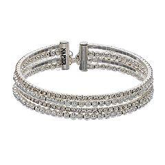 Napier Simulated Crystal Multi Row Bracelet