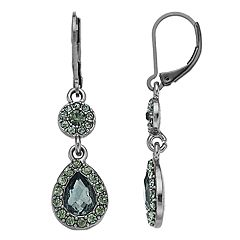 Napier Simulated Crystal Geometric Drop Earrings