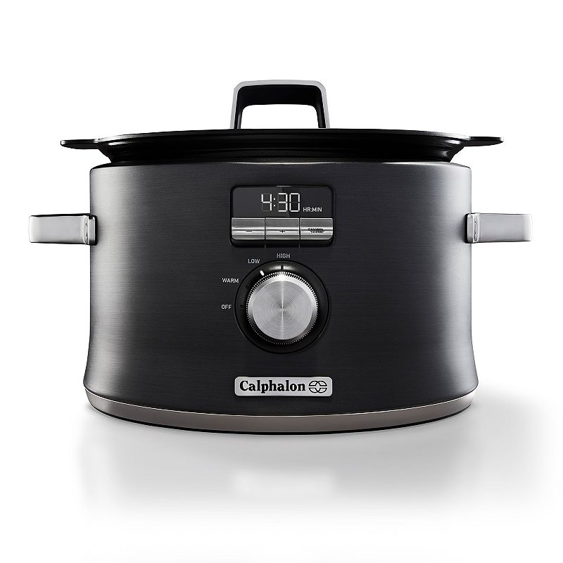 Calphalon Electrics Sauté Digital Slow Cooker, Grey Create delicious, home-cooked meals in this Calphalon Electrics digital slow cooker.Watch the product video here. Sear, brown, saute and slow cook Digital programmable Induction cooktop capable Durable ceramic cooking surface Fast food release and easy cleaning PRODUCT CARE Manufacturer's 3-year limited warrantyFor warranty information please click here 5.3-quart capacity 14.57 H x 14 W x 14 D Product weight: 7 lbs. 200 watts Model no. SCCLD1 Size: One Size. Color: Grey. Gender: unisex. Age Group: adult.