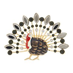 Napier Simulated Crystal Turkey Pin