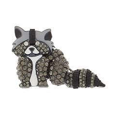 Napier Simulated Crystal Raccoon Pin