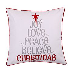 Levtex Sleigh Bells Love Joy Peace Throw Pillow