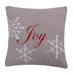 Levtex Sleigh Bells 'Joy' Throw Pillow
