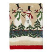 Avanti Tall Snowmen Printed Hand Towel
