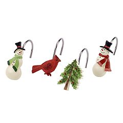 Avanti Tall Snowmen Shower Curtain Hooks