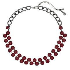 Simply Vera Vera Wang Red Statement Necklace