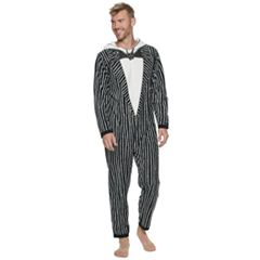 Men's 'The Nightmare Before Christmas' Jack Skellington Hooded Union Suit