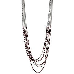 Simply Vera Vera Wang Red Simulated Crystal Long Multi Strand Necklace
