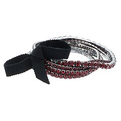 Simply Vera Vera Wang Red Simulated Crystal Stretch Bracelet Set