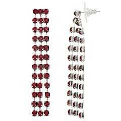 Simply Vera Vera Wang Red Simulated Crystal Linear Drop Earrings
