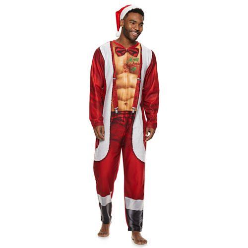 Men's Sexy Santa Union Suit & Hat