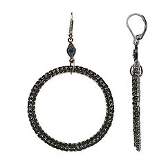 Simply Vera Vera Wang Simulated Stone Hoop Drop Earrings