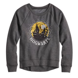 Girls 7-16 Harry Potter Hogwarts Flippy Sequin Graphic Sweatshirt