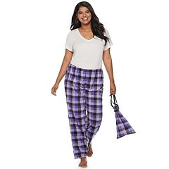 Plus Size SO® Fleece Pajama Pants in a Bag