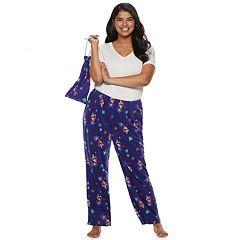 Plus Size SO® Fleece Pajama Pants in a Bag