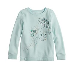 Girls 4-12 SONOMA Goods for Life™ Embellished Graphic Fleece Sweatshirt
