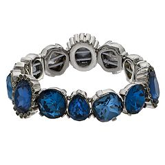 Simply Vera Vera Wang Blue Simulated Crystal Stretch Bracelet