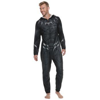 Men's Marvel Comics Black Panther Hooded Union Suit