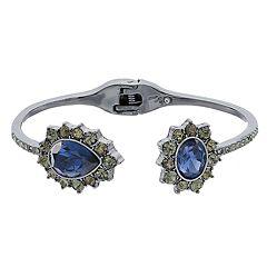 Simply Vera Vera Wang Blue Simulated Crystal Hinged Bracelet