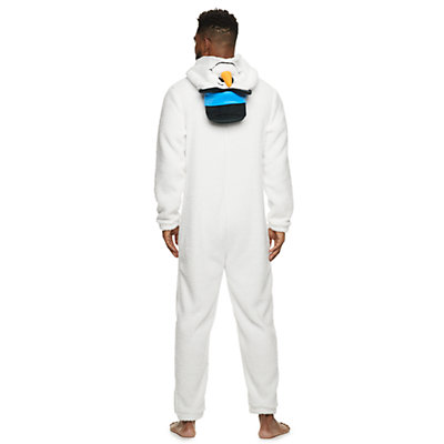 Men's Snowman Hooded Union Suit