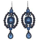Simply Vera Vera Wang Blue Statement Drop Earrings