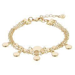 LC Lauren Conrad Multi Strand Disc Charm Bracelet