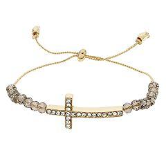 LC Lauren Conrad Sideways Cross Adjustable Bracelet