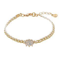 LC Lauren Conrad Gold Tone Braided Bracelet