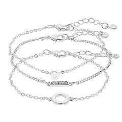 LC Lauren Conrad Silver Tone Bracelet Set