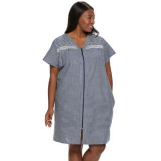 Plus Size Croft & Barrow® Seersucker Duster Robe