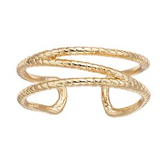 LC Lauren Conrad Textured Openwork Ring