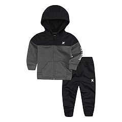 Baby Boy Hurley Dri-FIT Solar Zip Hoodie & Pants Set