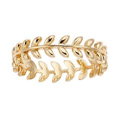 LC Lauren Conrad Gold Tone Leaf Ring