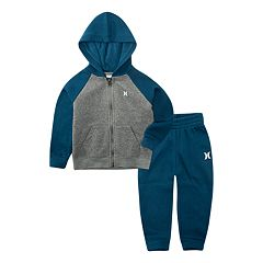 Baby Boy Hurley Fleece Zip Raglan Jacket & Pants Set