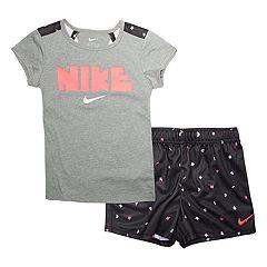 Girls 4-6x Nike Mesh Panel Graphic Tee & Shorts Set