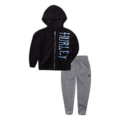 Baby Boy Hurley Graphic Fleece Jacket & Pants Set