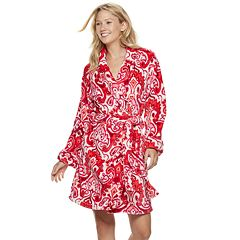 Women's INK + IVY Printed Plush Robe