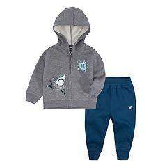 Baby Boy Hurley Shark Zip Hoodie & Jogger Pants